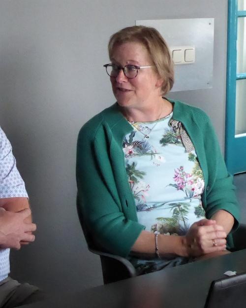 Bezoek Conny Bieze aan Vergeest Metaalbewerking Druten